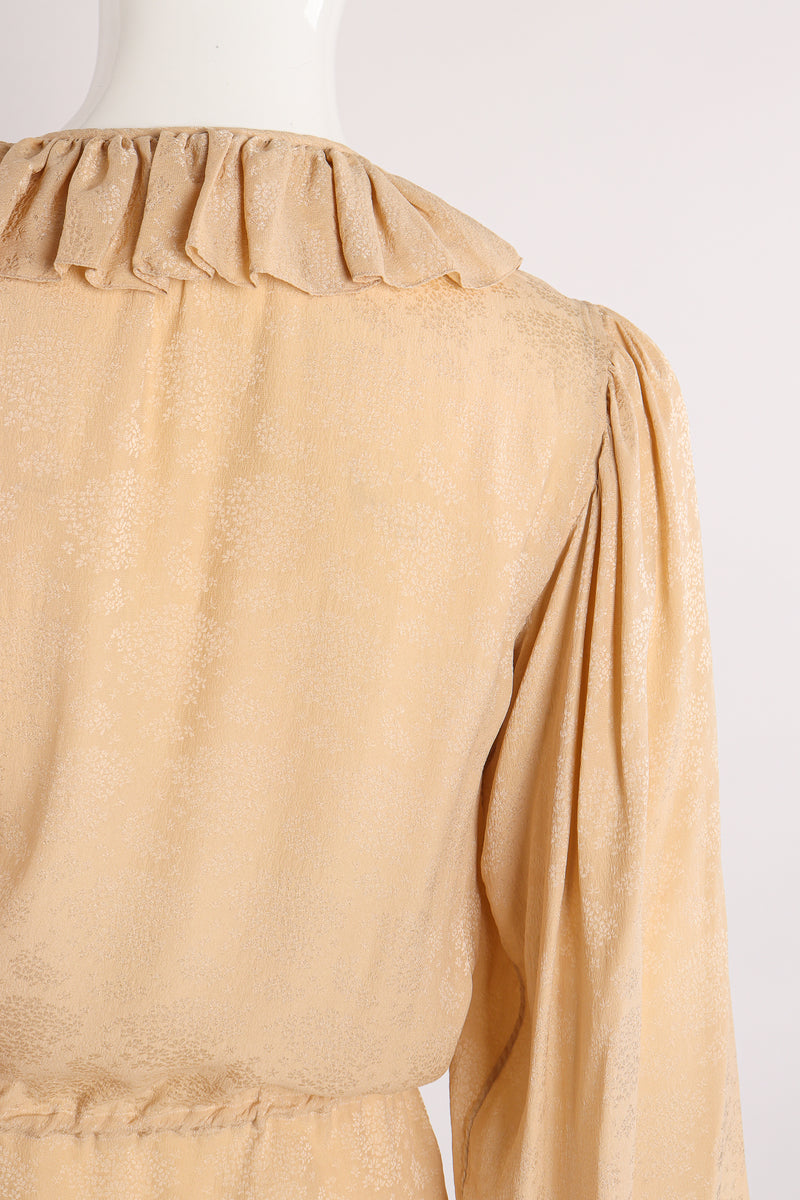 Vintage Yves Saint Laurent YSL Silk Peasant Blouse on Mannequin collar at Recess Los Angeles