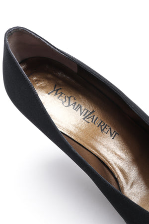 Recess Los Angeles Vintage YSL Yves Saint Laurent Sculpted Ball Fabric Heels