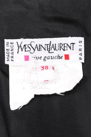 Recess Los Angeles Vintage YSL Yves Saint Laurent Tuxedo Jumpsuit One Button