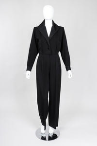 Recess Los Angeles Vintage YSL Yves Saint Laurent Le Smoking Tuxedo Jumpsuit One Button