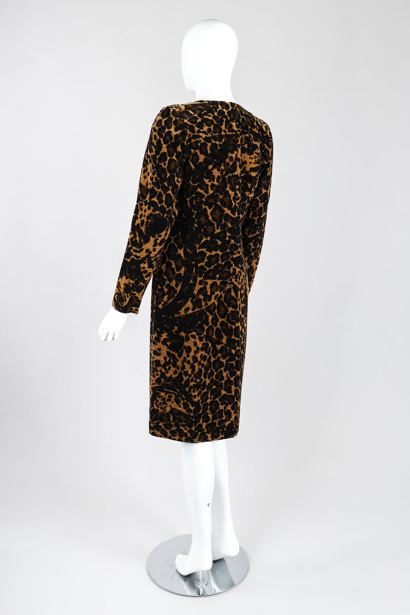 Recess Los Angeles Vintage Saint Laurent Fall Winter 1986 Chenille Leopard  Dress Black Brown