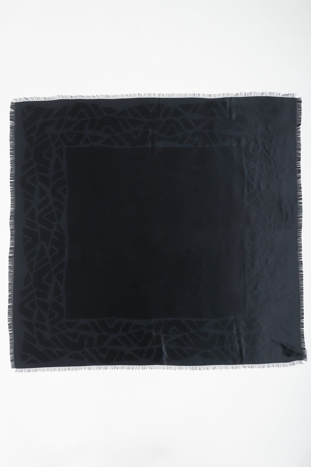 Vintage Yves Saint Laurent YSL Rive Gauche Oversized Noir Silk Scarf full at Recess Los Angeles