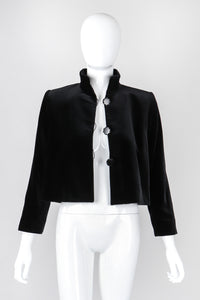Recess Los Angeles Vintage YSL Yves Saint Laurent Velvet Cropped Swing Jacket