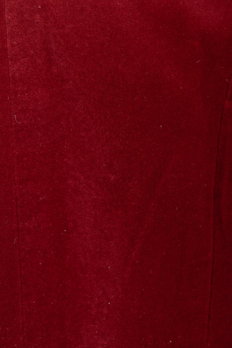 Vintage Yves Saint Laurent YSL Velvet Military Jacket fabric detail at Recess