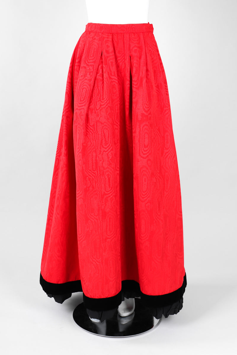 Recess Los Angeles Vintage Yves Saint Laurent YSL Silk Moiré Ball Hoop Skirt