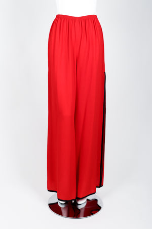 Vintage Yves Saint Laurent YSL Side Slit Palazzo Pant on Mannequin front 2 at Recess