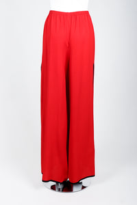 Vintage Yves Saint Laurent YSL Side Slit Palazzo Pant on Mannequin back at Recess
