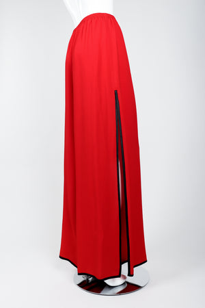 Vintage Yves Saint Laurent YSL Side Slit Palazzo Pant on Mannequin side at Recess
