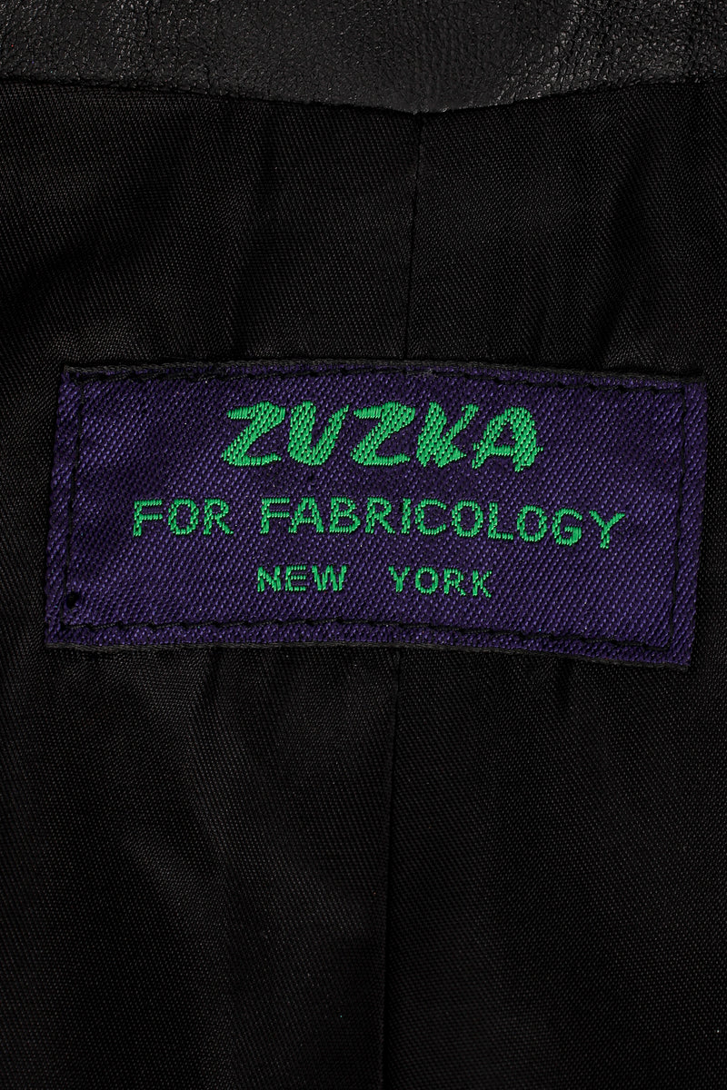 Vintage Zuzka for Fabricology Spotted Leather Swing Jacket label at Recess Los Angeles