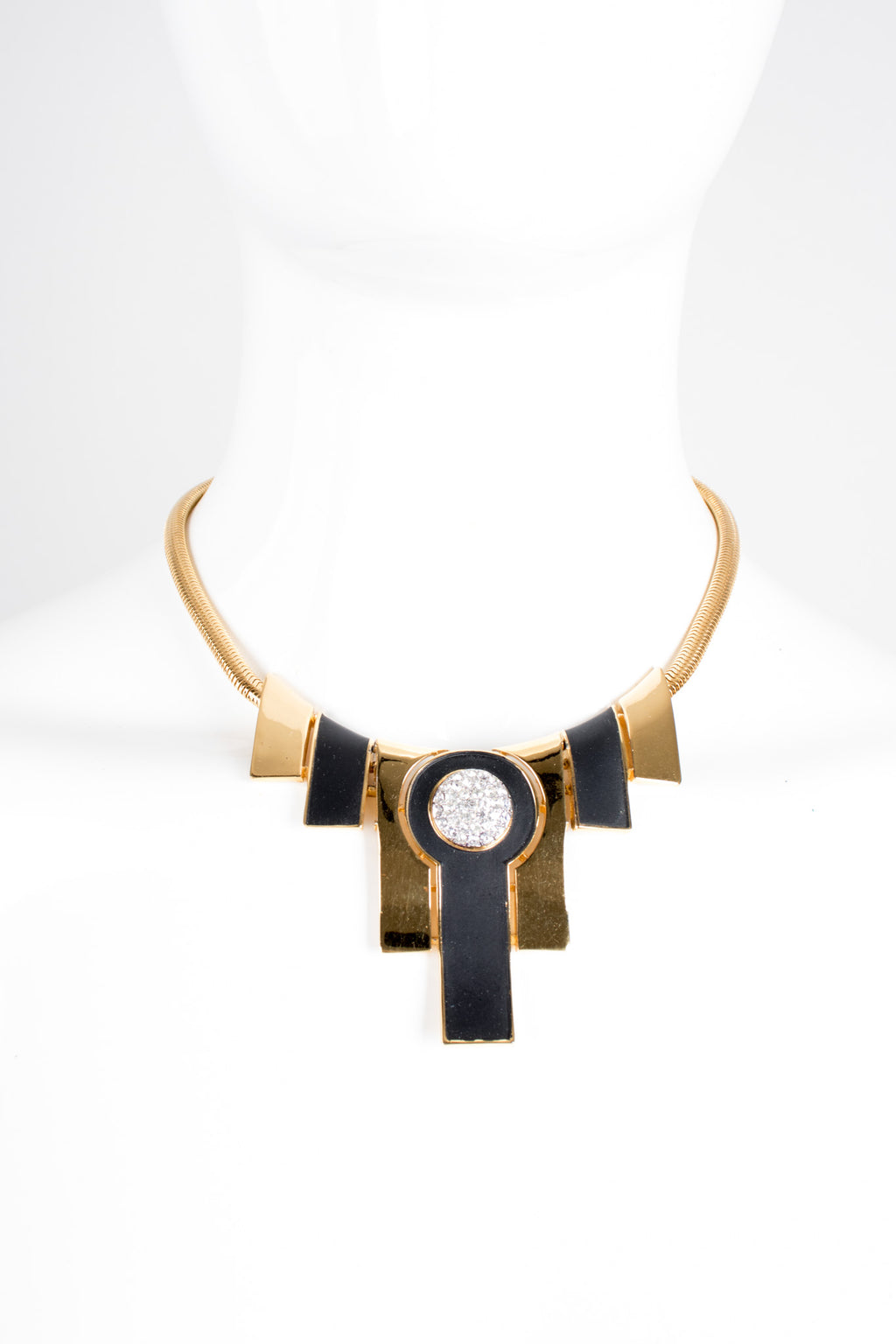 Trifari Art Deco Geometric Empire Collar Necklace