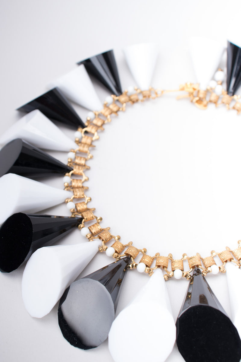 William de Lillo Resin Cone Collar Necklace