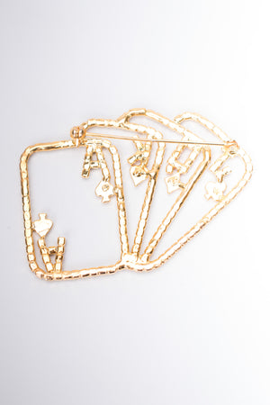 Vintage Royal Deck Playing Card Rhinestone Vegas Brooch