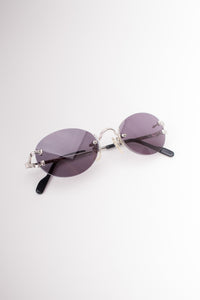 Cartier Madison C Rimless Wire Chrome Sunglasses