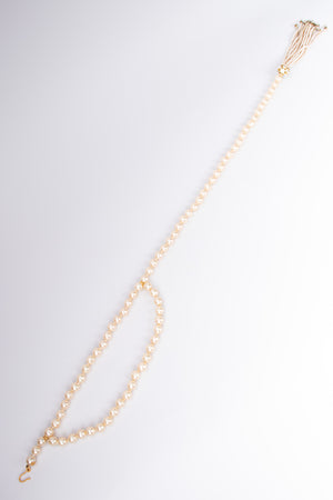 Chanel Signature Pearl Tassel Belt Necklace