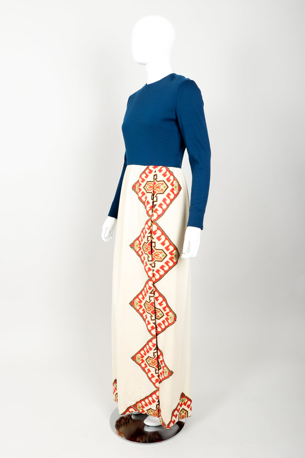 Vintage Chester Weinberg Geometric Dress & Pant Set Angle at Recess
