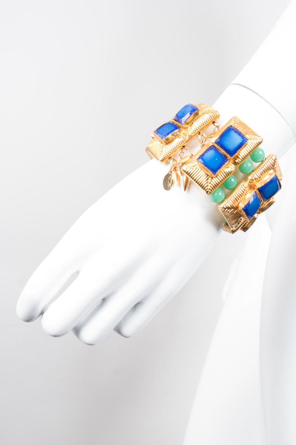 William de Lillo Vintage Jeweled Cuff Stretch Bracelet