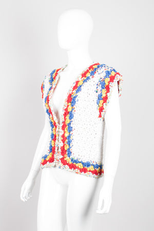 Estelle Braided Rag Primary Rainbow Vest