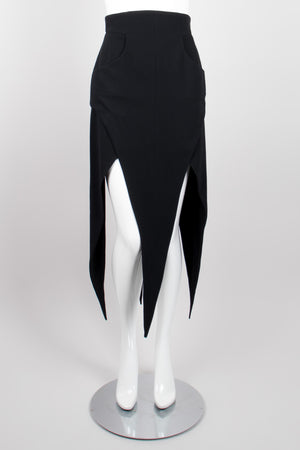 Karl Lagerfeld Wool High Waist Pointed Hem Skirt