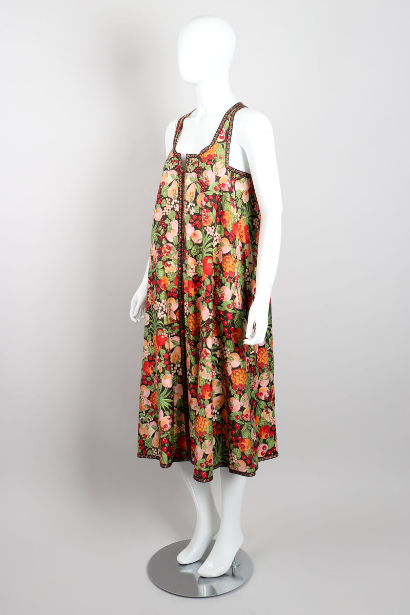 Bernard Perris Summer Fruits Peaches Trapeze Dress