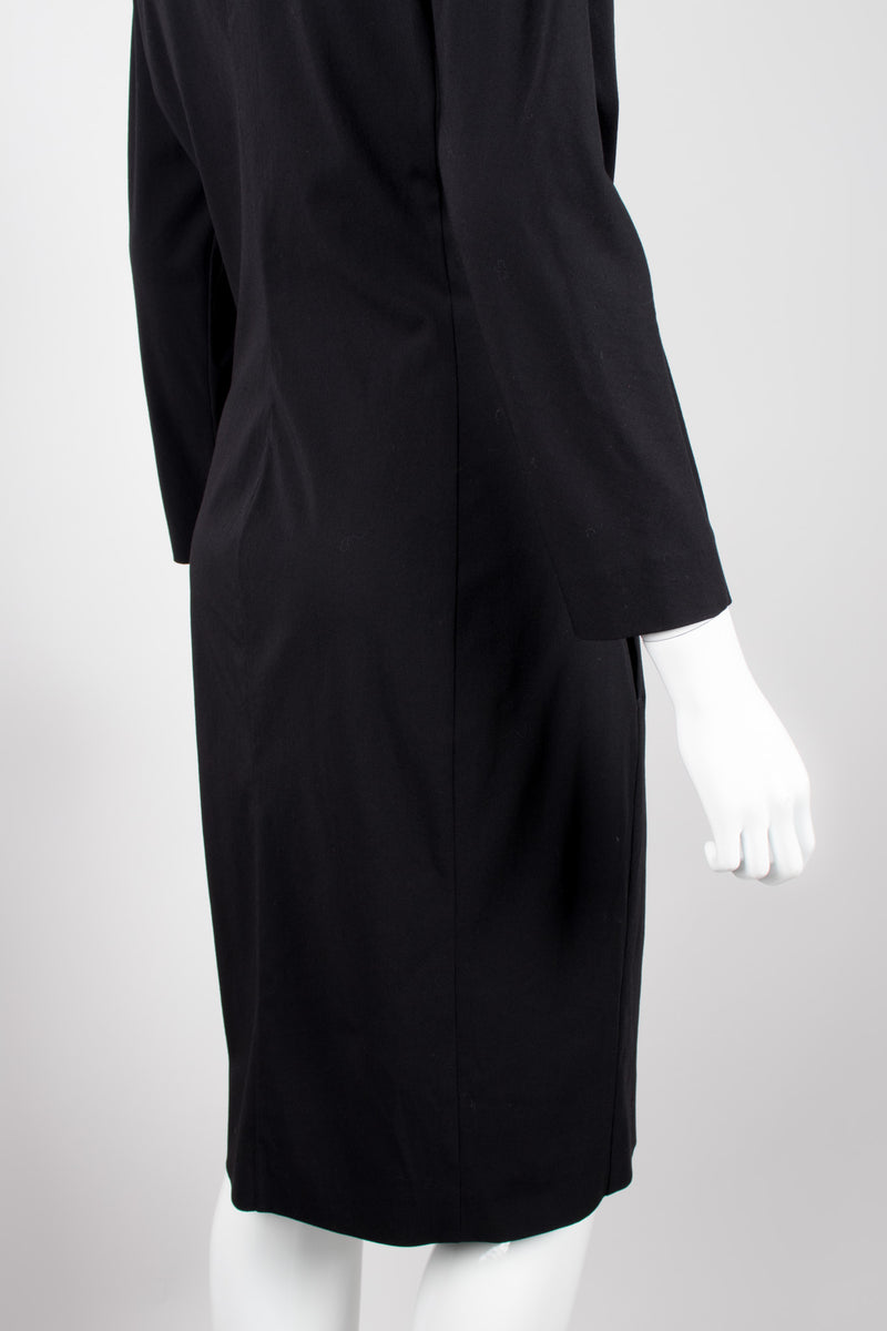 Jean Paul Gaultier Femme Elegant First Lady Draped Wrap Dress