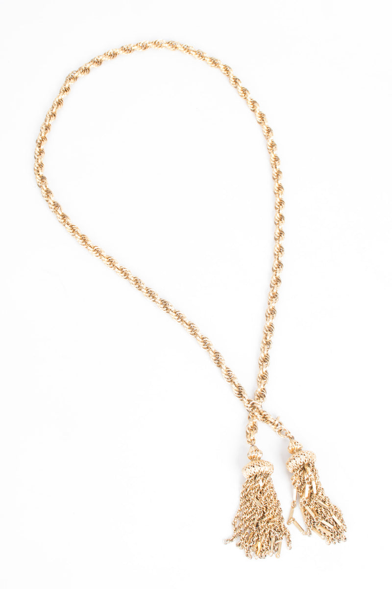 Vintage Gold Tassel Wrap Necklace