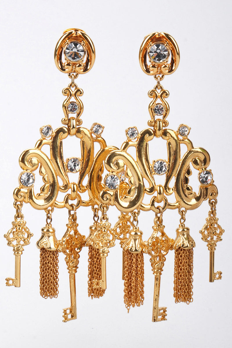 Key Chandelier Earrings