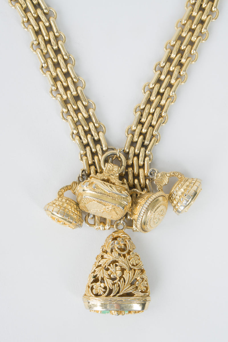 Royal Filigree Charm Vintage Necklace