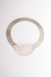 Crystal Half Moon Collar Necklace