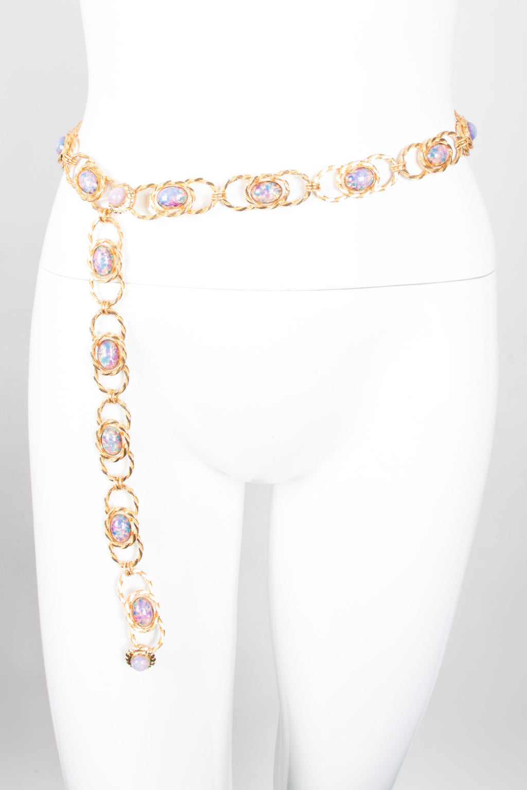 William de Lillo Opalescent Iridescent Unicorn Link Belt