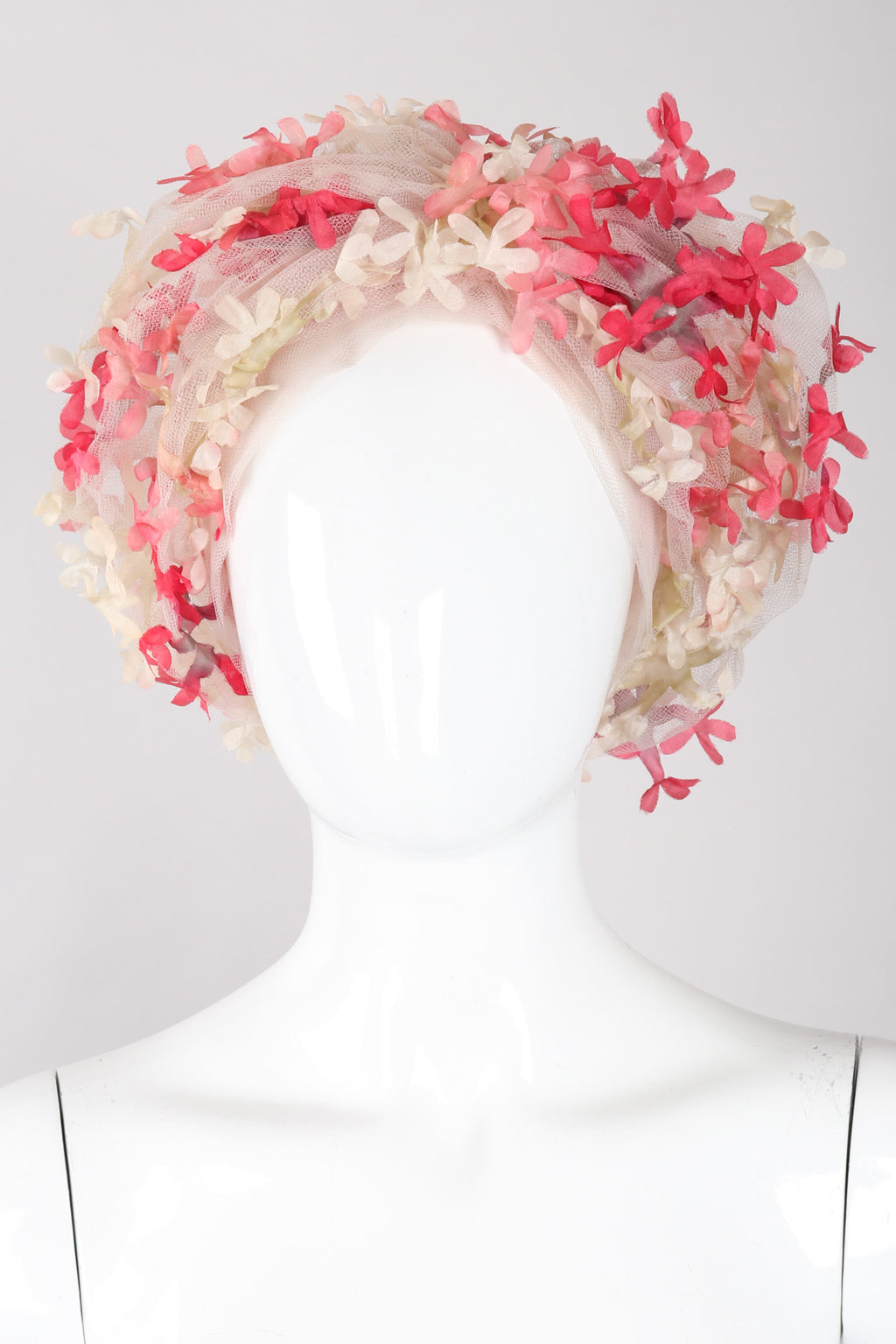 Recess Los Angeles Vintage Miss Dior Created By Christian Dior Mesh Tulle Flower Turban Hat