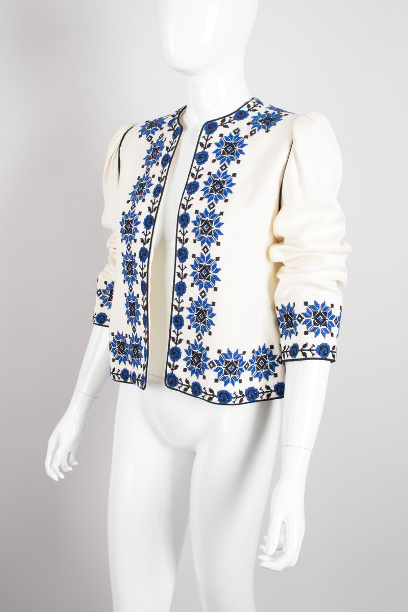 Oscar de la Renta Sun Star Ukrainian Embroidered Folk Jacket