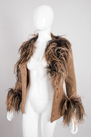 Bill Blass Lion Feather Knit Jacket