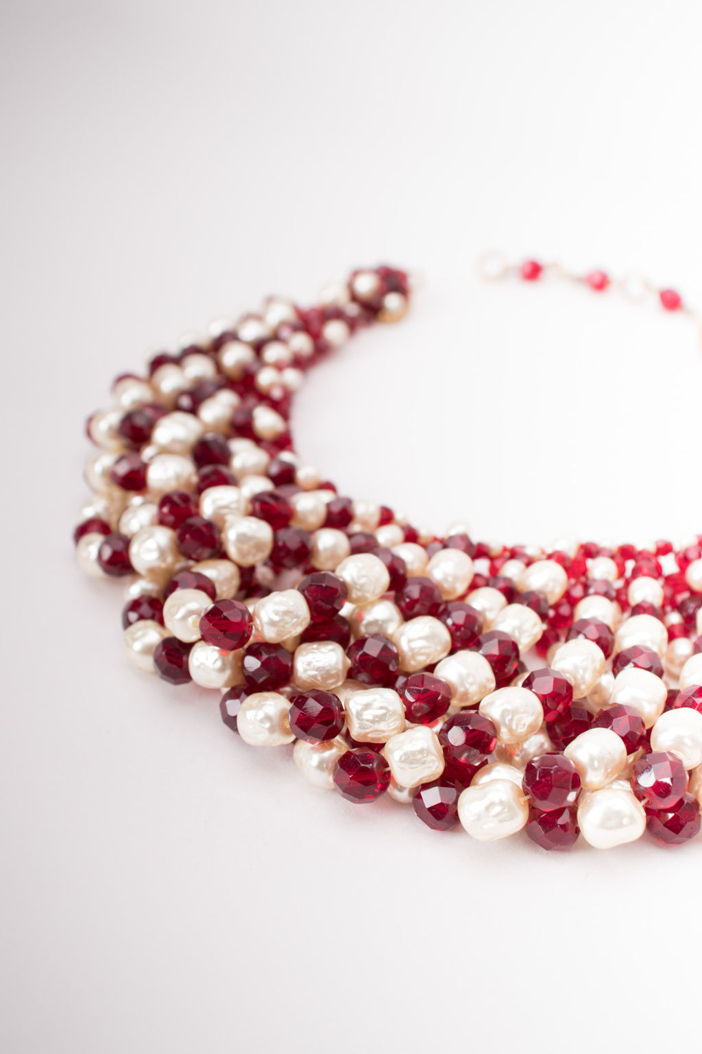 Coppola e Toppo Draped Pearl Crystal Bead Necklace