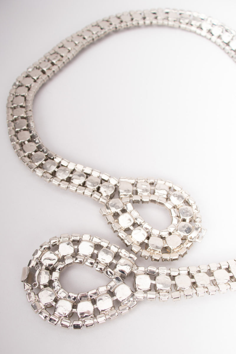 Vintage Art Deco Inspired Rhinestone Crystal Loop Belt