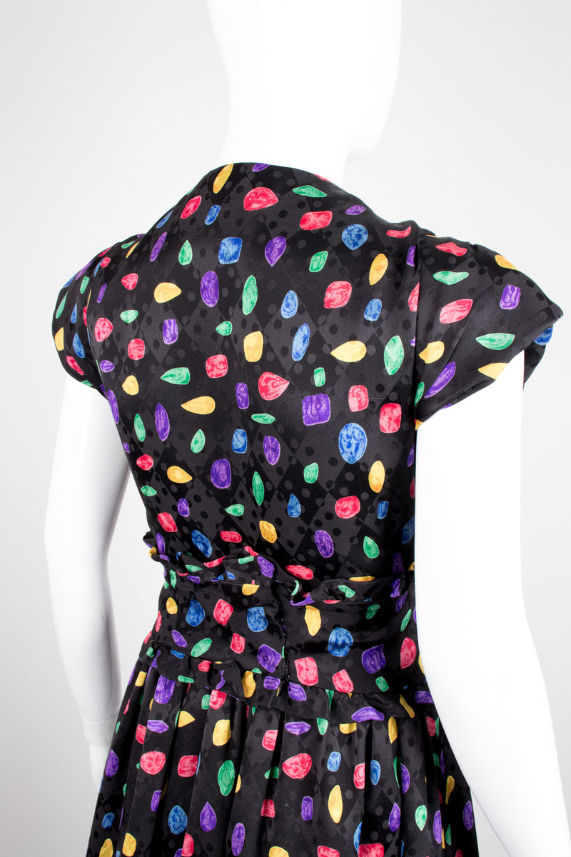 Richilene Candy Crush Jewel Print Silk Dress