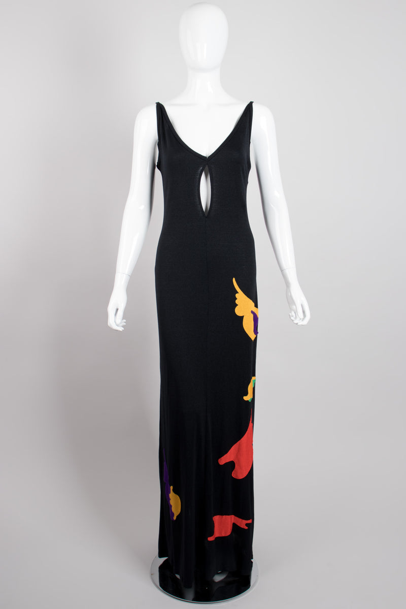Giorgio Sant'Angelo 4U2 Keyhole Appliqué Jersey Dress
