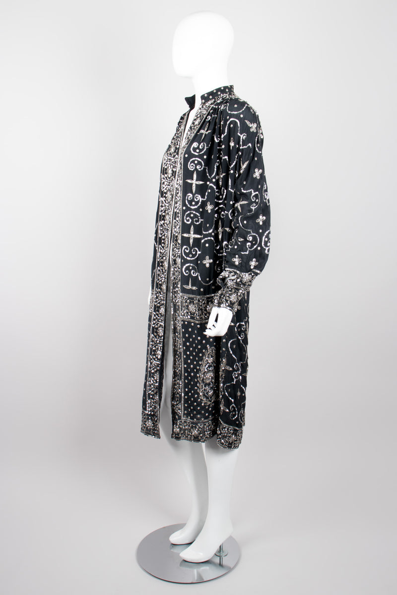 Sistermax Mixed Metallic Sequin Duster Jacket