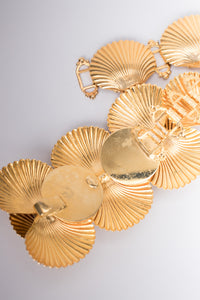 William De Lillo Vintage Golden Seashell Mermaid Belt