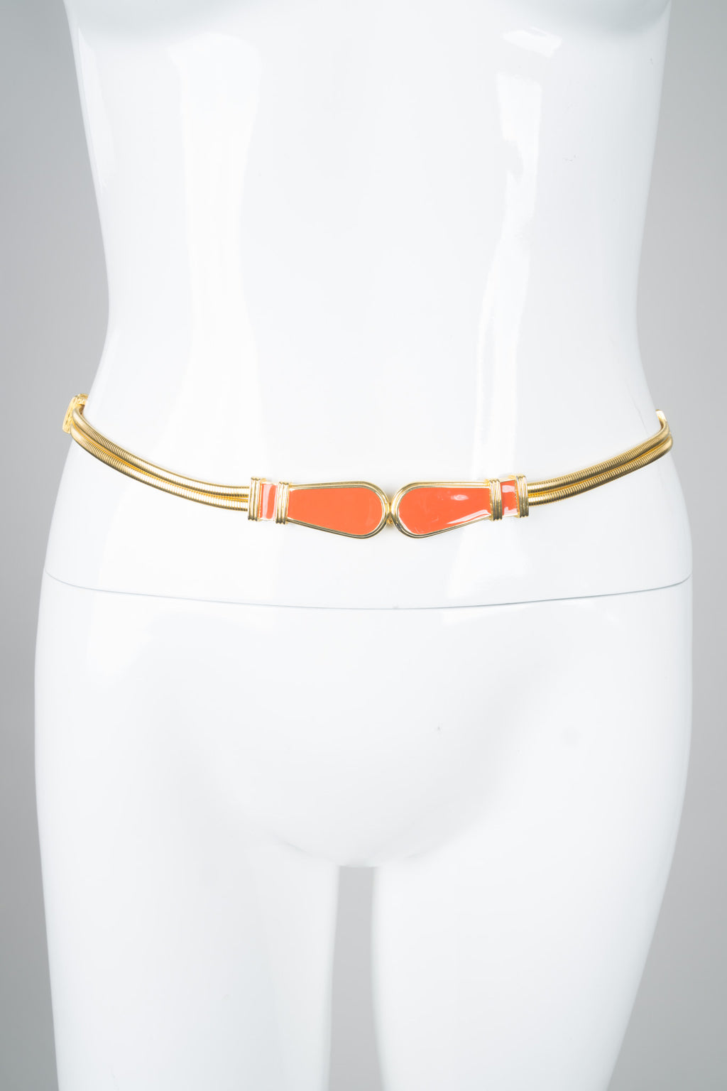 St. John Enamel Stretch Expansion Skinny Belt