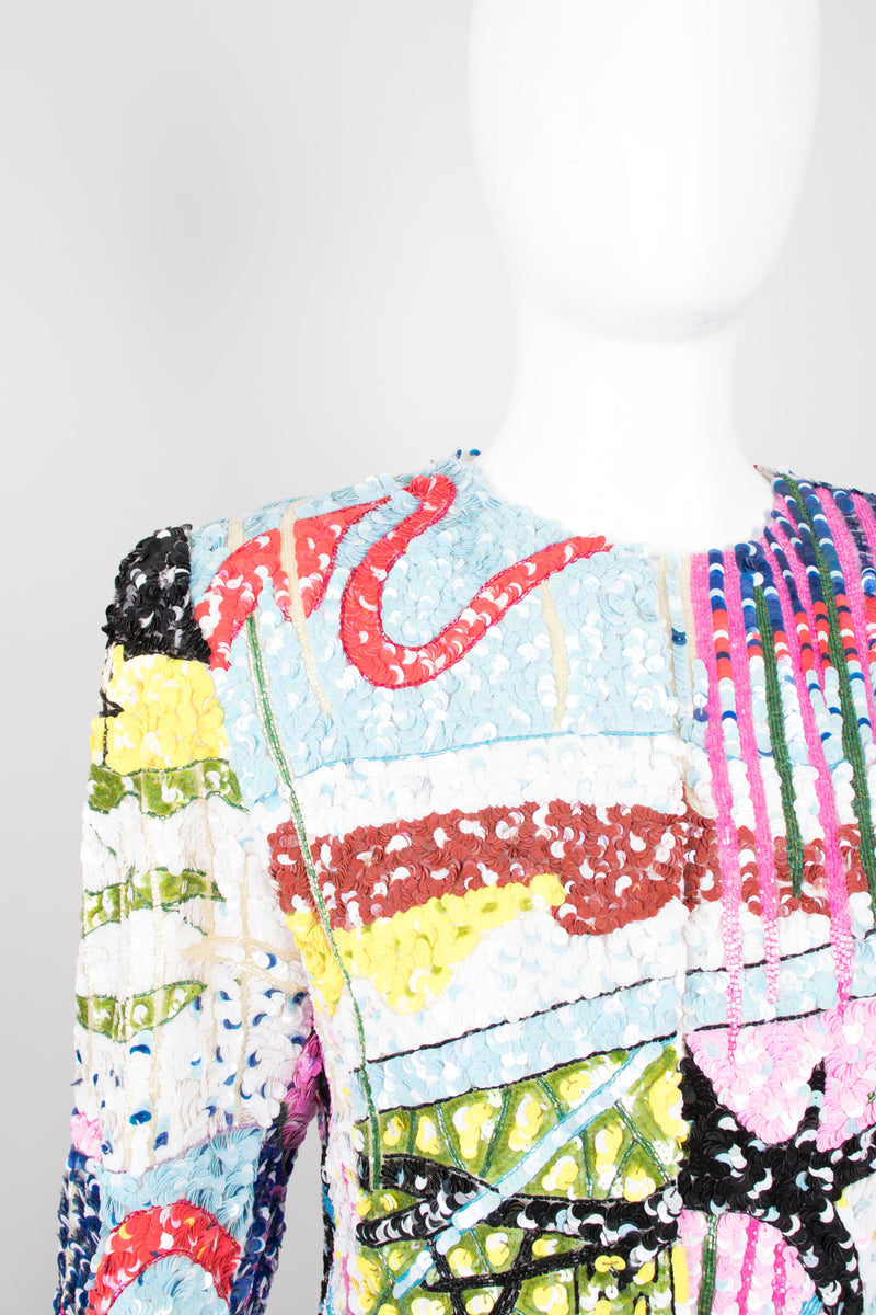Jeanette for St. Martin Kastenberg Abstract Artist Painter Sequin Art Jacket