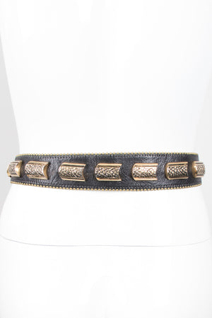 Leather Metal Snake Belt