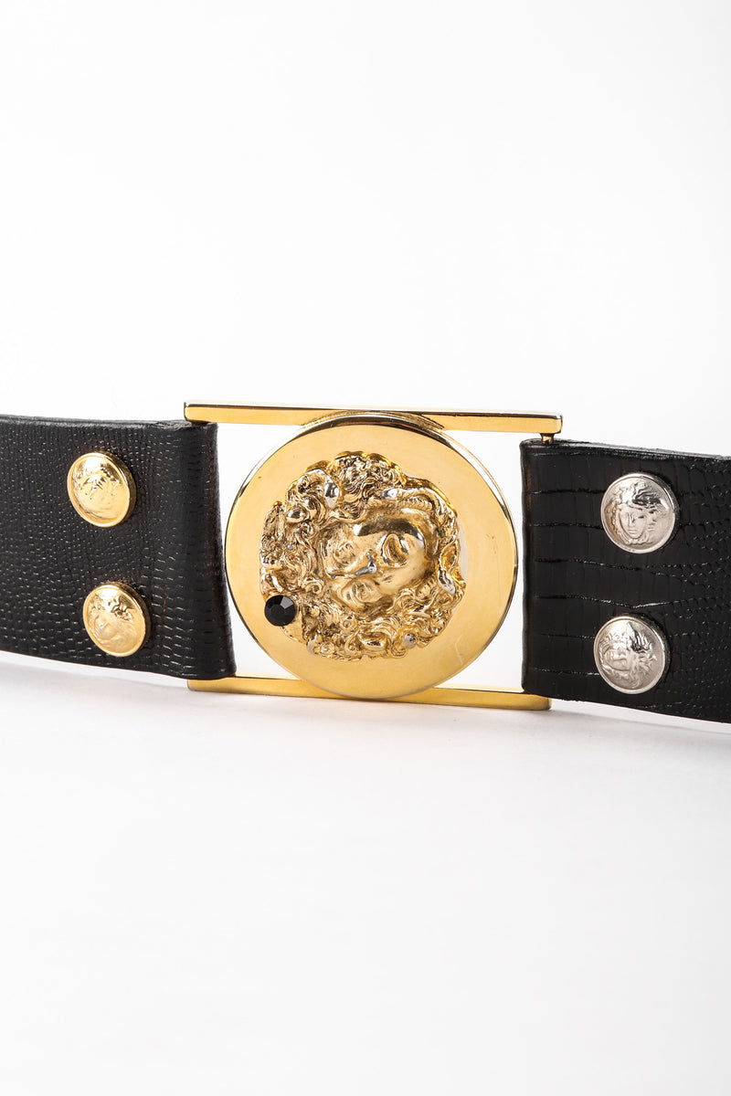 Mixed Metal Studded Medusa Belt