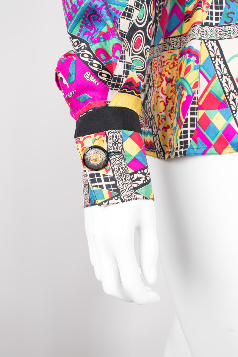 Gianni Versace Mixed Print Silk Shirt