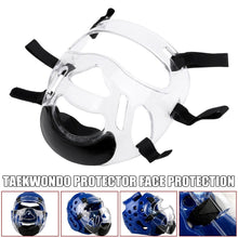 Load image into Gallery viewer, Taekwondo Cap Face Protective Mask Helmet for Kickboxing karate Training Protectors Durable Prevent fogging Face Protector