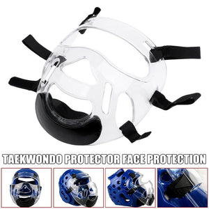 Taekwondo Cap Face Protective Mask Helmet for Kickboxing karate Training Protectors Durable Prevent fogging Face Protector