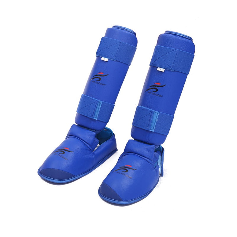 Leg Hand Foot Protector Taekwondo Sparring Gear Set Shin Guard Women Bands Palm Boxing Gloves Karate Shoes MMA Men Child Kids