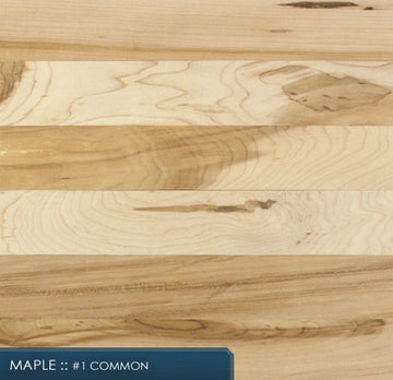 Unfinished Maple Solid Hardwood