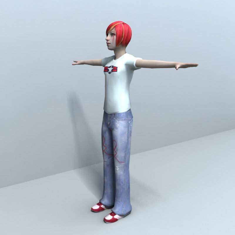 CC16 Teenagers - Rigged 3D People Teenager Bundle | 3D