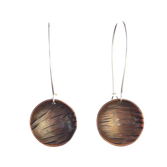Western Australian Hand Made Copper Earring Sterling Silver for Sensitive Earring