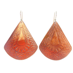 Reuleaux Triangle Handmade Copper Earrings